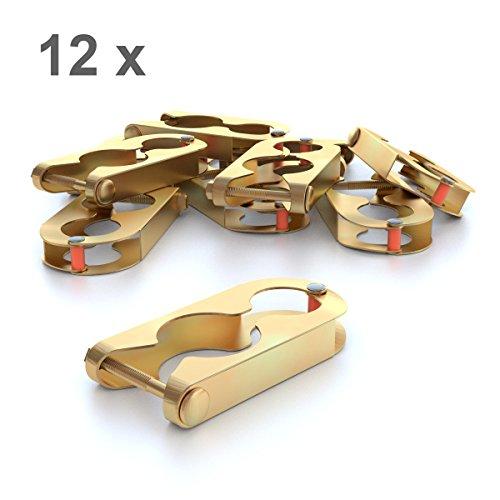 12x Metallschellen für Trampolin Netzpfosten