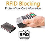 Minimalist Carbon Fiber Slim Wallet | RFID Blocking