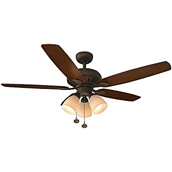 Hampton Bay Glendale 52 In Oil Rubbed Bronze Ceiling Fan