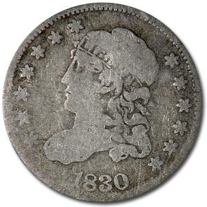 - 1830 Capped Bust Half Dime VG Dime Very Good