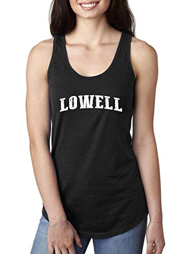 Massachusetts State Flag Lowell Traveler`s Gift Women's Racerback
