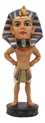 (Ebros Gift Egyptian Dynasty Man Deity Ruler On Earth God Pharaoh King TUT Bobblehead Figurine Egypt Toy Collectible Statue Bobble Head Head Knocker Gods of Egypt Ancient Kingdom Decor Son of Horus)