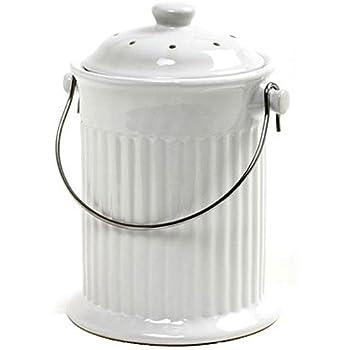 Norpro 1 Gallon Ceramic Compost Keeper, White