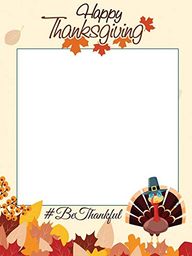 (Turkey, Thanksgiving photo booth frame prop- sizes 36x24, 48x36; Photobooth, Selfie Frame, Holiday photo booth, Fall decor, Give thanks, photo props, Leaves, Handmade party Supplies, Photo backdrop)