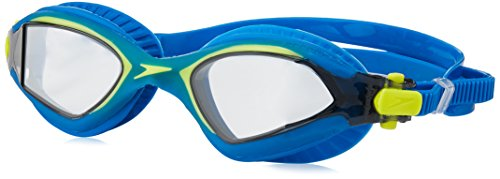 (Speedo MDR 2.4 Swim Goggle, Imperial Blue/Sulpher Spring, One Size)