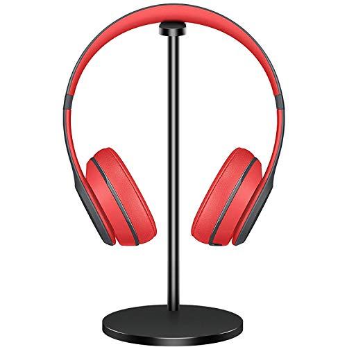 Aluminum Headphone Stand Headset Holder New Bee Headset Stand/Hanger for All Headphone Sizes (Black)