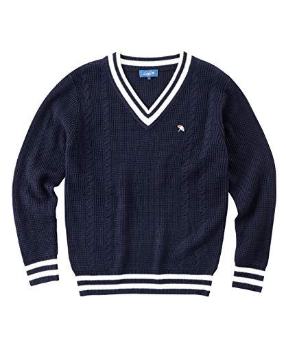 アーノルドパーマー ゴルフウェア セーター メンズ ケーブルVネックセーター AP220204H01 NV O