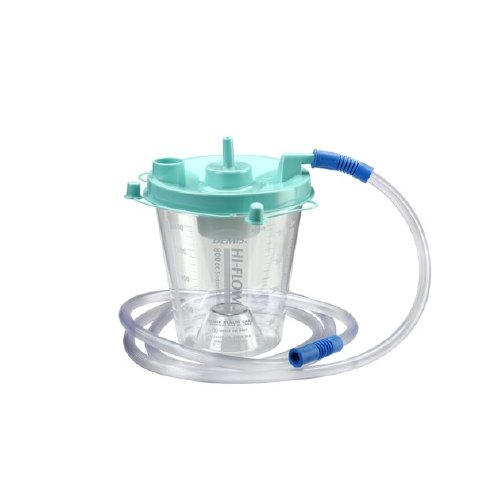 Bemis Healthcare 8002K 055 Bemis Healthcare Quality Medical Products 800CC Hi-Flow Hospital Grade Suction Canister, Critical Measure Bottom with 6' Tubing - Product Number : #8002K 055