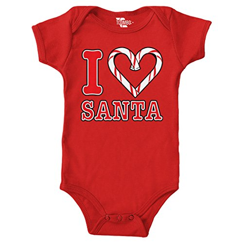 [I Love Santa Bodysuit (Red, 18 Months)] (Cheap Mrs Claus Outfit)