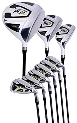 Pinemeadow Men's PGX Golf Set-Driver, 3 Wood, Hybrid, 5-PW Irons (Regular Flex) by Pinemeadow Golf Products, Inc.