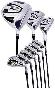 Amazon.com : Pinemeadow Golf PGX Set (Driver, 3 Wood, Hybrid, 5-PW Irons, Left Hand, Regular