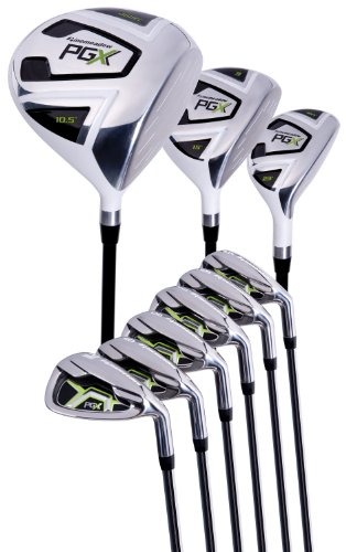 Pinemeadow Golf PGX Set (Driver, 3 Wood, Hybrid, 5-PW Irons, Left Hand, Regular) (Set Iron Hand Clubs Left)