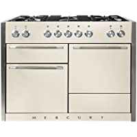 AGA AMC48DF Mercury Series 48 Inch Wide 6 Cu. Ft. Slide In Dual Fuel Range with, Ivory