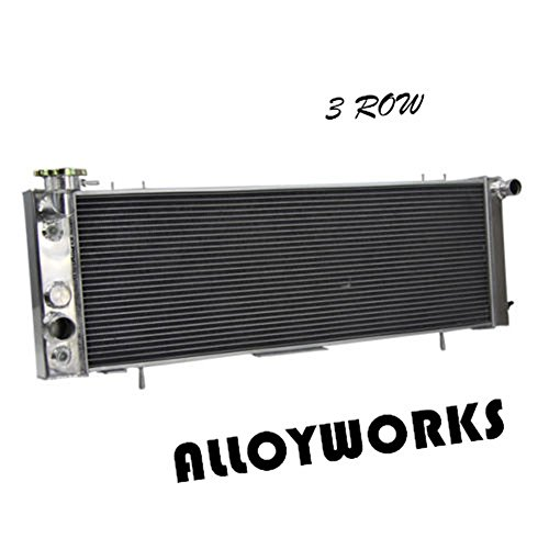 ALLOYWORKS 3 Row Aluminum Radiator for 1991-2001 Jeep Cherokee XJ / 1991-1992 Jeep Comanche