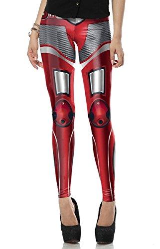 LoveLiness Iron Man Armor Leg Digital Print Fashion Stretch Pant Tight Leggings (Iron Man Cosplay Armor)