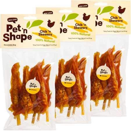 Pet n Shape 3 Pack Chik n Skewers 12 oz