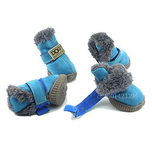 Chihuahua Antideslizantes Con De Y Yorkie Para Rojo1 Botas Gato Calzados Feidaeu Zapatos Cómodos Perros Nieve Pets Cordones OwAz5Yq