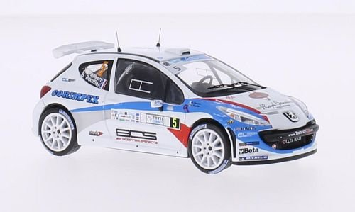 Peugeot 207 Car - Peugeot 207 S2000, No.5, FIA european Rally Championship, tour de Corse, 2013, Model Car, Ready-made, WhiteBox 1:43