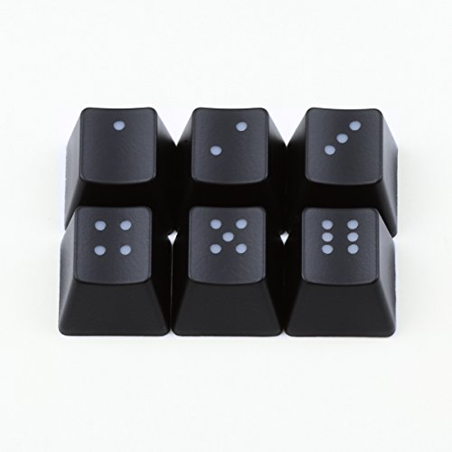 Cherry Dice - Max Keyboard - Cherry MX R4 1X1 Backlit Novelty Keycap set with Wire Keycap Puller (Dice)