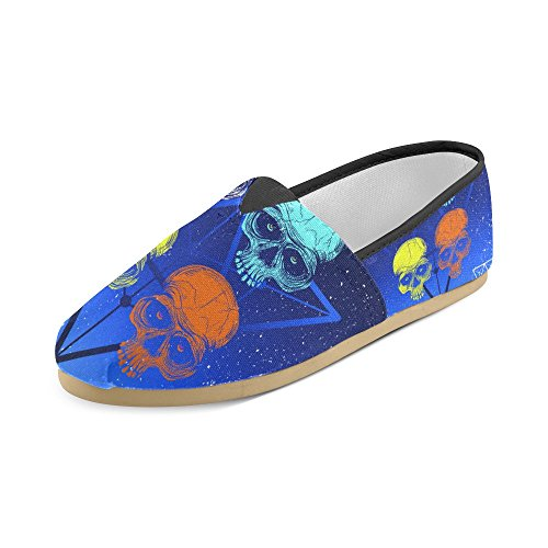 Interestprint Splashink Loafers Casual Sko For Menn Kvinner Skull1