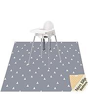 Highchair Floor Mat, Baby Splat Mat for Under High Chair/Arts/Crafts, Womumon Waterproof Spill Mat Non-Slip Splash Mat, Washable Mess Mat Drop Cloth