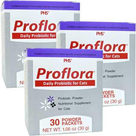 proflora 3PACK Probiotic for Cats (90 Servings) by proflora