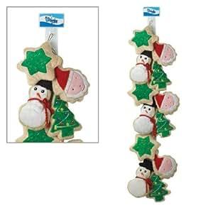Grriggles Plush Holiday Crinkle Dog Cookie Clip Strip, 12-Pack