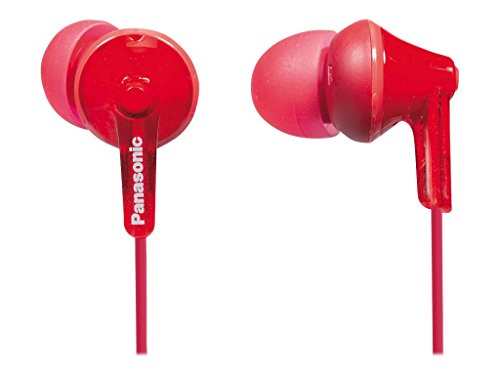Panasonic Wired Earphones Red RP HJE125 R product image