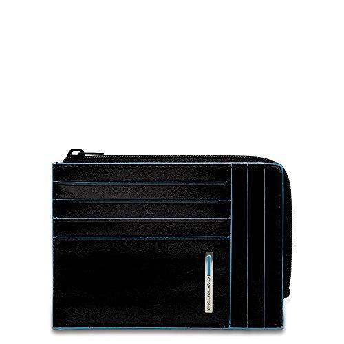 Piquadro Blue Square - Piquadro Blue Square Coin Pouch, 0.43 liters, Black (Nero)