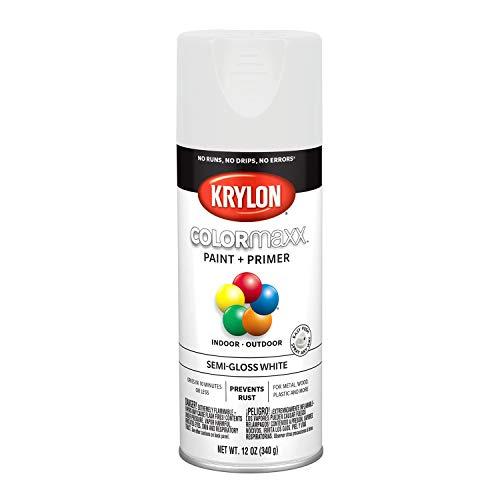 Krylon K05580007 COLORmaxx Spray Paint, Aerosol, White (Best Spray Paint For Glass Bottles)