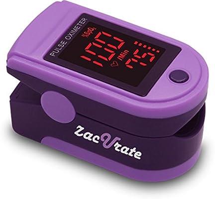 zacurate 400B Fingertip Pulsioxímetro sangre la saturación de oxígeno monitor con pilas y cordón incluido, Azul3