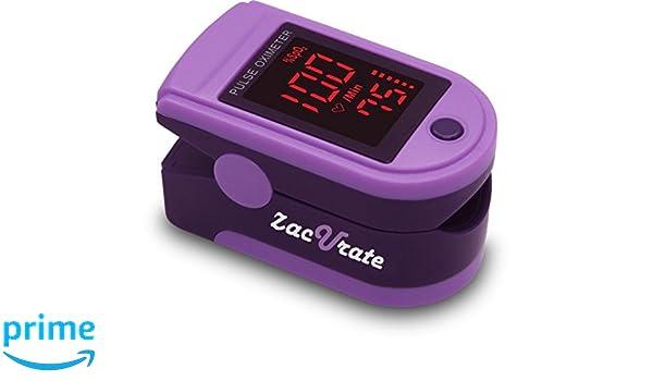 zacurate 400B Fingertip Pulsioxímetro sangre la saturación de oxígeno monitor con pilas y cordón incluido, Azul3: Amazon.es: Deportes y aire libre