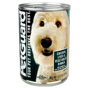 PetGuard Chicken, Liver & Vegetables Dinner - Senior/Less Active - 12x13.2oz