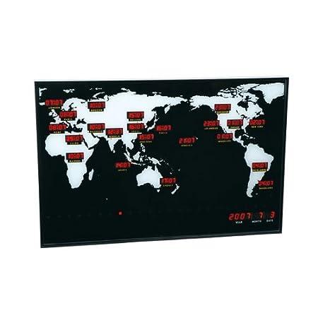 La Chaise Longue 27 Jdl218 Wall Clock World Time Amazoncouk