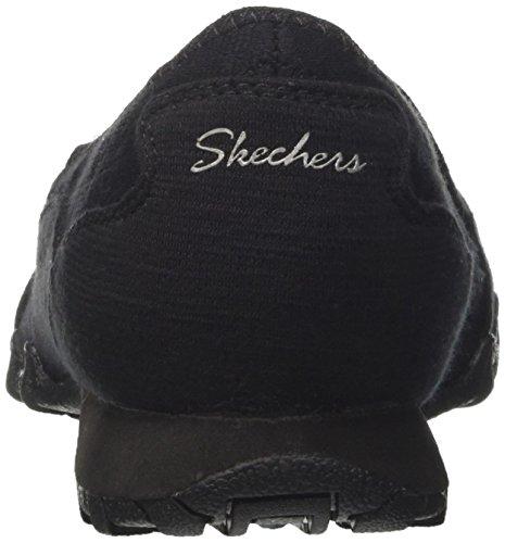 WoMen Skechers Lounger Bikers Mocassins Blk Parent Black ZwwCrndq