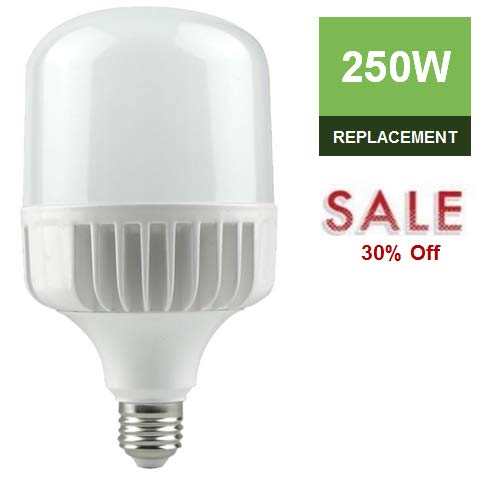 - LC LED High Output 35W 4000lm (250W-350W) Commercial & Residential Bulb, Warm White (3000K), 330 Degree, Non-Dimmable