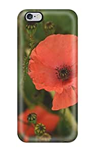 Flexible Tpu Back Case Cover For Iphone 6 Plus - Poppy Flower