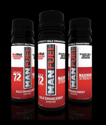 MANFUEL ALL NATURAL MALE ENHANCEMENT ENERGY LIBIDO STAMINA BOOSTER - RED HOT CINNAMON - MALE ENHANCEMENT SHOOTER - (3 PACK)