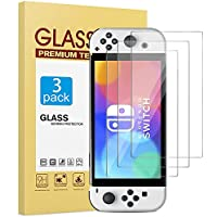 [3 Pack] Screen Protector Compatible with Nintendo Switch OLED 2021 (7 Inch), Tempered Glass/High Definition/Sensitive…
