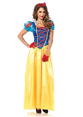 Halloween Cartoon Characters (Leg Avenue Women's Classic Snow White, Multi,)