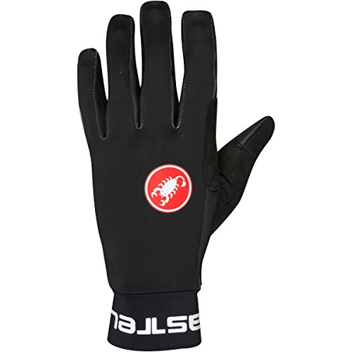 Castelli Mens Bike Glove - Castelli Scalda Glove - Men's Black, M
