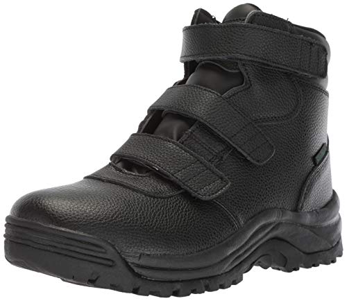 Propet Men's Cliff Walker Tall Strap Hiking Boot, Black, 12 E US