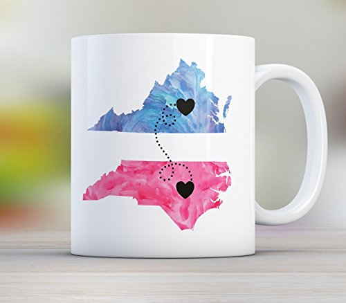 Grandma Long Distance State Mug with Quote, Personalize, All states available, Countries and Provinces too, 11oz or 15 oz