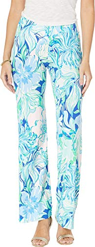 Lilly Pulitzer Women's Georgia May Palazzo Pants Multi Party Thyme Small 33