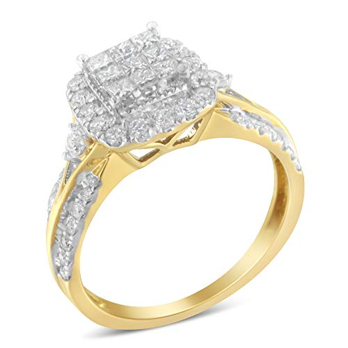 10KT Yellow Gold Diamond Composite Ring (1 cttw, H-I Color, SI1-SI2 Clarity)