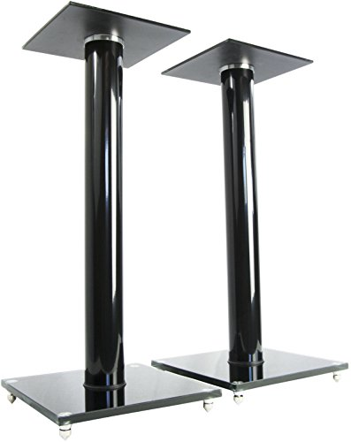 VIVO Premium Universal 23 inch Floor Speaker Stands for Surround Sound and Book Shelf Speakers (STAND-SP02B) ()