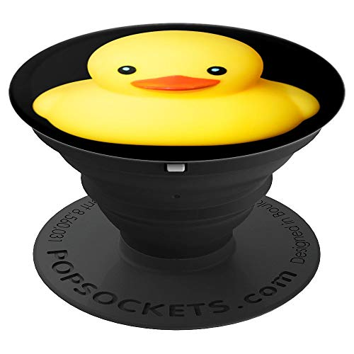 - Cute yellow rubber duck mascots - PopSockets Grip and Stand for Phones and Tablets