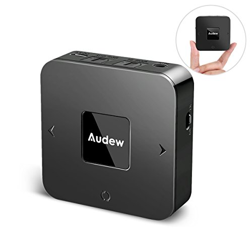 AUDEW V4.1 Bluetooth Transmitter Receiver,Digital Optical TOSLINK & 3.5 mm Wireless Audio Adapter TV/Home Stereo System-Pair Two at Once,Apt-X Low Latency  by Audew