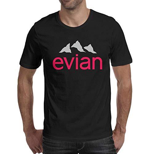JIAJIAJIAN Printing Men Music Fans Fashion Cotton Evian-Water-Logo- Short Sleeve T-Shirt