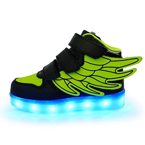 Kidslove LED Schuhe Kinder LED Sportschuhe Kinder USB Aufladen 7 Lichtfarbe Leuchtend Kinderschuhe PU Sneaker Turnschuhe Für Jungen Mädchen